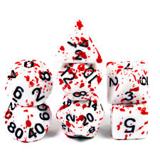 Bloody Dice Cool 7pcs for Dungeons and Dragons Game