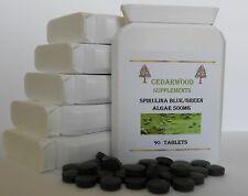 Spirulina Blue Green Algae 90 X 500mg: Super Food:VEG Has Essential Amino Acids.