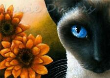 ACEO art print from art painting Cat 575 siamese by L.Dumas