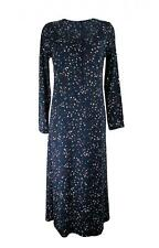 M&S Cool Comfort Cotton Modal Long Sleeve Star Design Nightdress Size 8 to 26