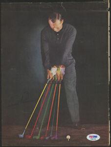 Arnold Palmer Signed 8x10 Magazine Page (PSA COA) World Golf H.O.F.1974 The King