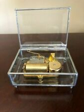 Orpheus Sankyo beveled glass 30 note music box