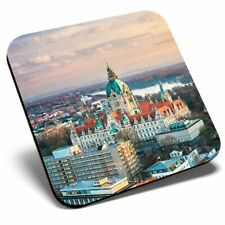 Square Single Coaster - City Hall Hanover Germany  #3197