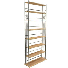 Wide 266 DVD Blu-ray / 378 CD Media Storage 7 Tier Tower Shelves - Silver MS3397