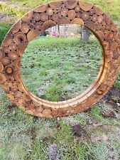 Reclaimed teak root log Wall mirror beautiful woodland style large wall mirror