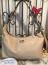 Auth~COACH ~ Madison Hailey Satchel Cross body Bag # 14304 GUC! Light Beige Med
