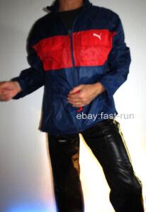 PUMA Regenjacke Jacke Windbreaker Sportjacke M Jacket Glanz Nylon VTG VINTAGE