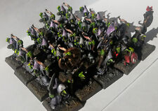 22 Night Goblin Archers including shaman chief and command PAINTED Warhammer WFB