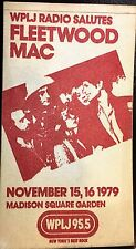 Fleetwood Mac Backstage Pass Unused 1979 Madison Square Garden Stevie Nicks Wplj