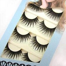 Handmade! 5 Pairs Thick Long False Eyelashes Beauty Makeup Demi Wispies Eye Lash