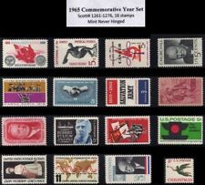 RJames: 1965 Commemorative Year Set (16 stamps), MNH, F-VF