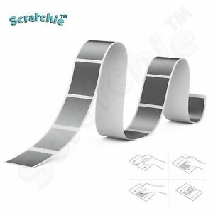 Scratchie   Scratch off Stickers   Silver Square 25x25mm   50 Pack   SS25