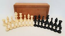 Old Plastic Chess Set King 7.5cm