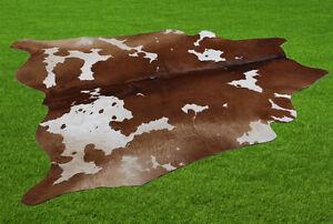 "New Cowhide Rugs Area Cow Skin Leather 24.15 sq.feet (61""x57"") Cow hide U-5986"