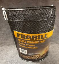 Frabill Black Deluxe Minnow Trap #1271 Torpedo Shape Heavy Duty Metal Trap 16.5""