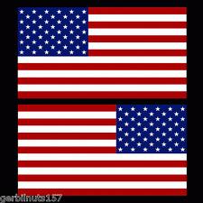 """American Flag sticker die-cut decals 4"""" mirrored reverse set USA US MATTE VINYL"""