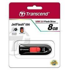 Transcend  JetFlash 590 (8GB, Red) USB 2.0 Flash Drive / TS8GJF590K