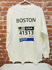 Boston Marathon 2013 *Runners number* Long sleeve Shirt sz Lg~cute saying~joggin