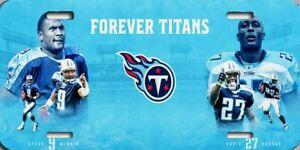NFL Tennessee Titans Steve McNair Eddie George Car Truck License Plate New