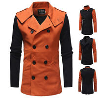 Fashion Men's Wool Coat Winter Trench Coat Peacoat Outwear Overcoat Long Jacket