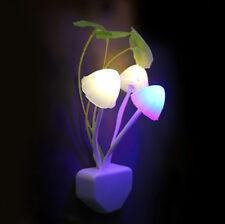 Veilleuse Nuit Lampe Champignon LED Ambiant Capteur Lumière Pr Chambre Décor US