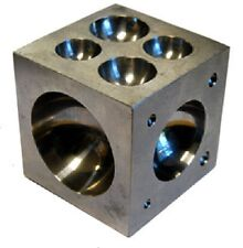"""Jewelers Dapping Block With 21 Round Cavities 2 1/2"""" Polished Stainless Steel"""