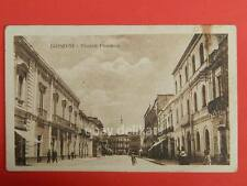 BRINDISI vecchia cartolina  piazza fontana animata