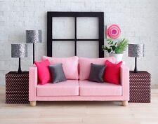 1:6 Scale Furniture Sofa in soft Felt/light Pink