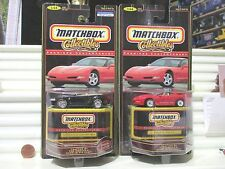 1998 Matchbox Premiere Contemporary Collection 1999 Mustang + Firebird Cars NOC