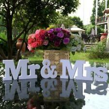 Wedding Decoration White Mr & Mrs Wooden Letters Sign For Sweetheart Table Decor