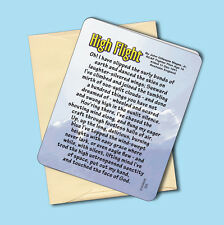 """High Flight"" - Inspirational Flyer's Greeting Card - Blank Inside - Sku# 555"
