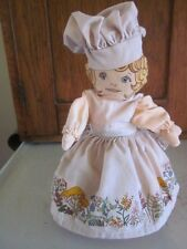 "VINTAGE COLLECTIBLE ""AVON"" CLOTH  COUNTRY KITCHEN SACHET DOLL ca 1970"