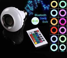 NEW 12W Wireless Bluetooth Audio RGB Speaker LED MUSIC BULB Lamp + Remote DPS1