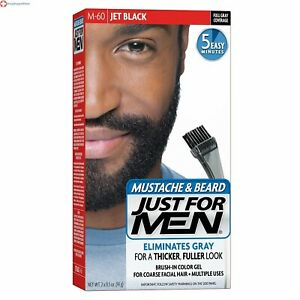 JUST FOR MEN Color Gel Mustache, Beard  Sideburns 115 Jet Black 1 Each