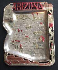 Vintage Arizona  Metal State Ashtray Made in Japan Souvenir