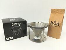 DUO DRIP in INOX (CONO) + 250 g CAFFE' FUSARI