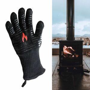 LOG BURNER FIRE HEAT PROOF RESISTANT GLOVE  WOOD COAL STOVE FIREPLACE PIT