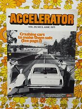 ACCELERATOR June 1971 Vol.28 No.5 GMH NASCO Parts division Holden magazine HG