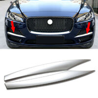 2pcs Front Bumper Side Vent Grille Cover Trims Fit For Jaguar F-PACE 2016-2018