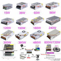 DC 12V 3A 5A 10A 20A 25A 40A 50A 60A Amp 110V 220V Power Supply LED Strip Light