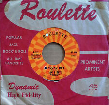SAM & DAVE - I FOUND OUT b/w I GOT A THING GOING ON - ROULETTE 45 - 1963