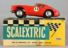 VINTAGE TRIANG SCALEXTRIC -FERRARI GT- ELECTRIC MINIMODELS RACING CAR E/4 -BOXED