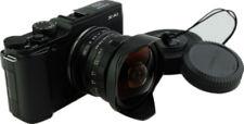 NEWYI 7artisans 7.5mm F2.8 Manual Fisheye Lens for Fujifilm X FX Camera Black