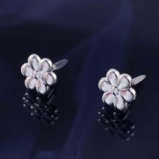 Silver Flower Design Andralok Stud Earrings.