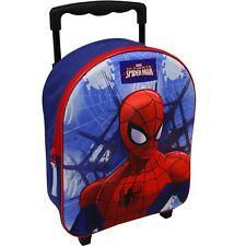 Marvel Spiderman Trolley Rucksack Kindertrolley Koffer Tasche Jungen Blau 8635