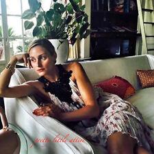 Zara STUDIO Vestido Estampado Floral lencería de encaje de ganchillo M como se ve en.. último