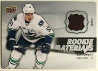 2014-15 Bo Horvat Upper Deck Rookie Materials #RM23 Vancouver Canucks