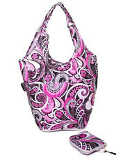 Reusable Fold Away Mini Shopper From The Very Lovely Bag Co (Pink Paisley)