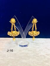 Indian Jumka Earring Kundan Stone Bollywood Wedding Wear Style Jumki Beads New