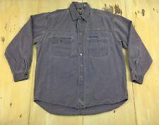 LEVI STRAUSS - Vtg 90s Levis Mens Purple Denim Jean Button-up L/S Shirt, LARGE